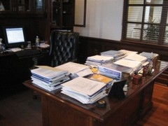 Kevin's Desk Before